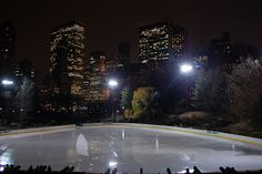 Central Park ice rink.