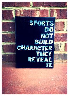 Sports reveal character 9 x 12 canvas quote by shopsignlanguage, $15  work out room decor