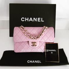 Chanel-Small-Classic-2-55-Double-Flap-Pink-Lambskin-Gold-HDW-Shoulder-Bag