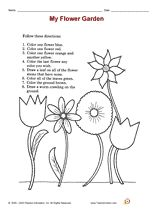 math worksheet : find it color it following directions worksheet  listening  : Following Directions Worksheet For Kindergarten