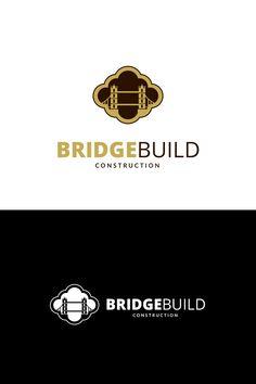 Bridge Build Logo Template #Logo #Build #Bridge #Template