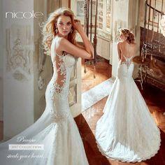 Abito Sposa 2017 Sirena Sensuale Nicole Spose Con Effetto Tattoo