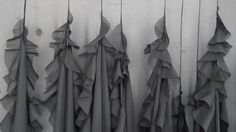 Detail from Untitled 1 from FALLS, silk chiffon, thread, lead and wood, 2012