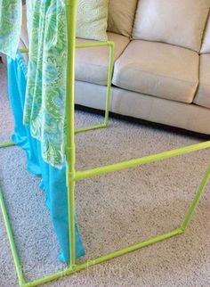PVC pipe puppet stage (can be taken apart to store and is super lightweight!)