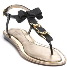50faf3f9518c kate spade new york - Black New York Indira Flat Sandals - Lyst