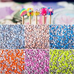 1 bag Candy Fluorescent Colors Square Stud Rhinestone Acrylic UV Gel Nail Art Decoration