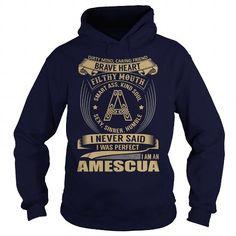 AMESCUA Last Name, Surname Tshirt