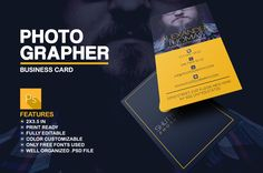 Photographer Business Card by Marvel on Creative Market