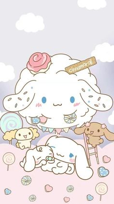 ʚ♡ɞ pinterest: horrorbaby Cute Pastel Wallpaper, Sanrio Wallpaper, Hello Kitty Wallpaper, Kawaii Wallpaper, Arte Do Kawaii, Kawaii Art, Kawaii Anime, Kawaii Stuff, Sanrio Characters