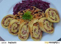Bramborové knedlíky rolované a navrch pečené Dumplings, Shrimp, Spaghetti, Tacos, Potatoes, Mexican, Bread, Ethnic Recipes, Food