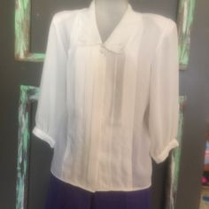 Boutiques Cream sheer blouse Beautifully detailed cream sheer dress shirt Boutique 9 Tops Blouses