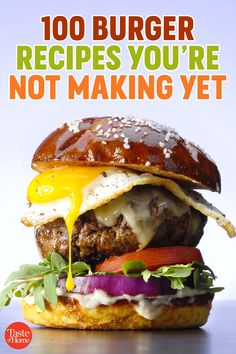 100 Burger Recipes You're Not Making Yet (But Totally Should Be) Gourmet Burgers, Burger Bar, Beef Burgers, Good Burger, Dog Recipes, Burger Recipes, Gourmet Recipes, Beef Recipes, Burger Specials