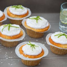 Gluten Free coconut lime cupcakes - Sweet and light, the perfect summer cupcake!