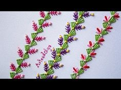 Today you will learn to embroider decorative stitches, which give a touch of elegance where you use them. For example, cushions, collars, table runner. Border Embroidery Designs, Embroidery Hoop Crafts, Basic Embroidery Stitches, Hand Embroidery Videos, Hand Embroidery Flowers, Hand Embroidery Tutorial, Hand Work Embroidery, Embroidery Flowers Pattern, Wool Embroidery