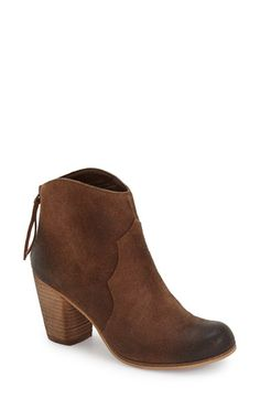 Free shipping and returns on BP. 'Trott' Bootie (Women) at Nordstrom.com. Burnished, well-oiled leather and tonal stitching show off the Western appeal of a stacked heel bootie made modern with a curved topline.