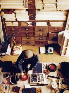 Fabienne Verdier dans son atelier