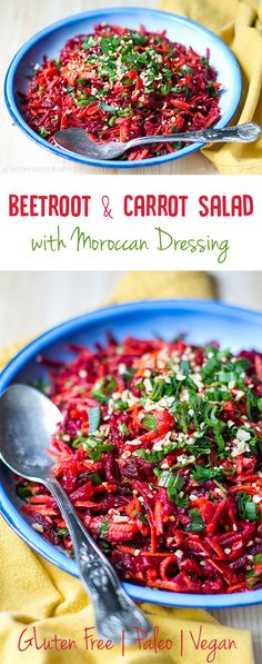 You can enjoy this gorgeous Beetroot & Carrot Salad with Moroccan Dressing as a stand alone meal or serve it to your guests at your next dinner party. It is an impressive dish!