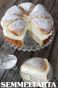 Semmeltårta Swedish Cream Cake (this was translated from Swedish by the computer). You can also look at the recipe on: http://haveayummyday.com/2015/02/17/649/