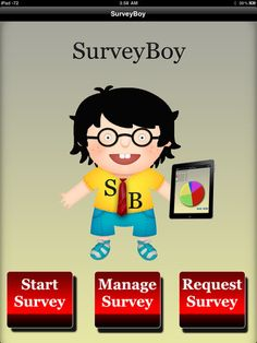Description $0.99    SurveryBoy is your best buddy to conduct field surveys.    => Features :    - Quickly create surveys with our built in database with long list of questions and answers.