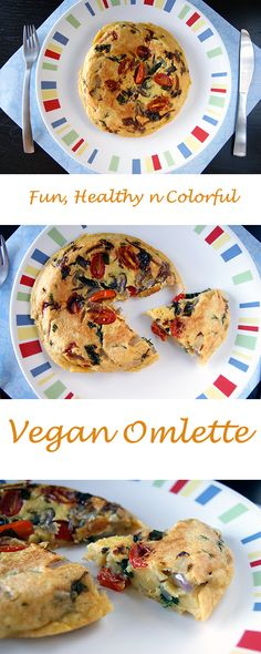 Healthy Vegan Omlette for a weekend breakfast.