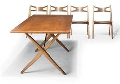 A HANS WEGNER DINING SUITE - Chair Blog