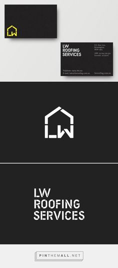 Logo for LW Roofing Services — Freelance Designer Richard Baird - created via http://pinthemall.net