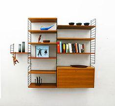 Teak String Shelves | Mid Century Modern