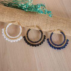 Crochet Jewelry Patterns, Beaded Earrings Patterns, Seed Bead Patterns, Bead Earrings, Bead Jewellery, Wire Jewelry, Beaded Jewelry, Handmade Jewelry, Beaded Crafts