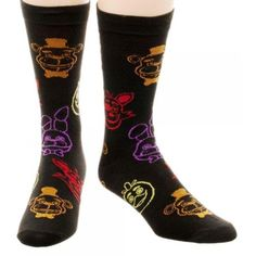 FIVE NIGHTS AT FREDDYS 5 PACK SOCKS NEW!