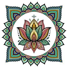 a relaxing beautiful color mandalas.