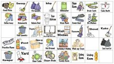 Kids Chore Chart Graphics