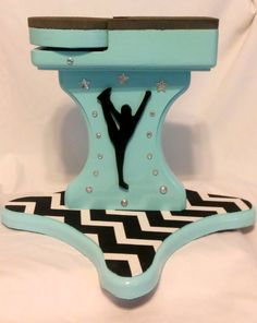 Custom Spinning Cheerleader Stunt Stand It can by MarysCraftStore