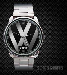 New Volkswagen VW Beetle Classic Convertible Metal Men's Watch [Parts, Engine]