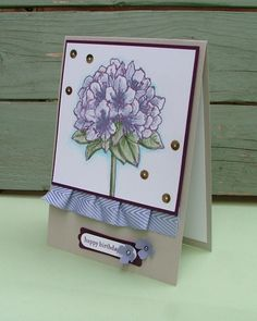 DaisyFlower: Happy Blooming Birthday. Stampin up best thoughts.