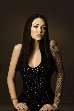 Sleeve Tattoos for Girls by Lena Dunaeva
