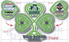 The 2012 medal for the Wild Rover series. 3, 4 and 5 mile races.