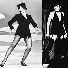 Androgynous Style - Judy Garland (left) dancing in a male suit and Borsalino, imitated a few years later by her daughter Liza Minelli -