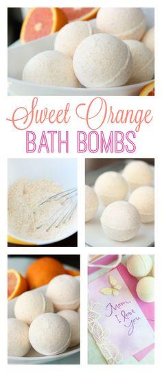 DIY Sweet Orange Bath Bombs #MoreThanAMom AD