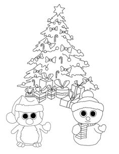 ty big eye coloring pages | Here is the Happy Meal Teenie Beanie Boos Coloring Page ...