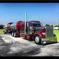 Peterbilt custom 359 with matchin tanker