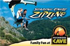 Fly across the #BlackHills on the Soaring Eagle Zipline at Rushmore Cave  @Visit Rapid City