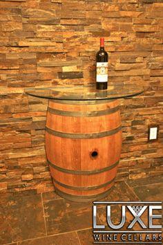 Custom Wine Cellar Racking Custom Wine Barrel Table |