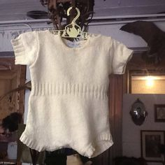 Vintage Golden Gate of California Child's Cotton Knit Romper by 3birdz on Etsy