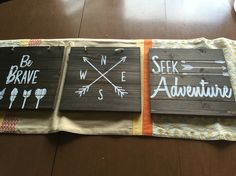 Signs for our adventure themed toddler room