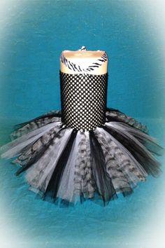 Zebra Tutu Dress- Black and White. $22.00, via Etsy.