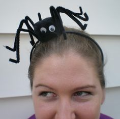 halloween headband: not so itsy-bitsy spider headband how-to - crafts ideas - crafts for kids