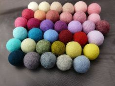 Black Friday Choose Your Color Felt Balls Wool Beads Felted   Etsy Felted Wool Crafts, Diy Garland, Felt Ball, Craft Materials, Handmade Felt, Flower Delivery, Etsy Shipping, Felt Flowers, Wool Felt