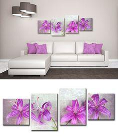 Xl12_45444958 Cuadro Flores Fucsia Multiple Canvas Paintings, Multi Canvas Painting, Canvas Art, Purple Wall Art, Zen Art, Fish Design, Texture Painting, Home Crafts, Wall Decor