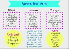 Summertime Arms Circuit Workout #FitFluential http://fitncookies.com #SweatPink