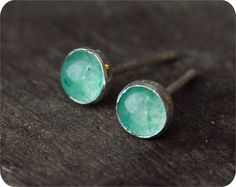 This color makes me think of a perfect day by the sea :: Sterling Silver Aventurine Posts by LoveErica